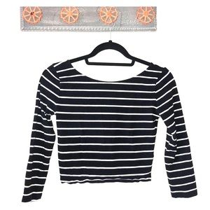 Forever 21 Striped cotton and spandex shirt